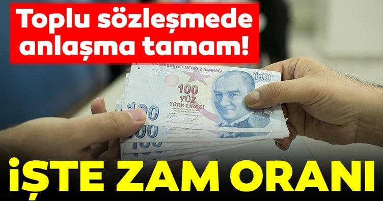 Son dakika: Hükümet ile Türk-İş toplu sözleşme üzerinde anlaşma sağladı!