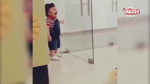 Duyan siren sesi sanıyor... Ağlamasıyla sosyal medyayı sallayan sevimli bebek