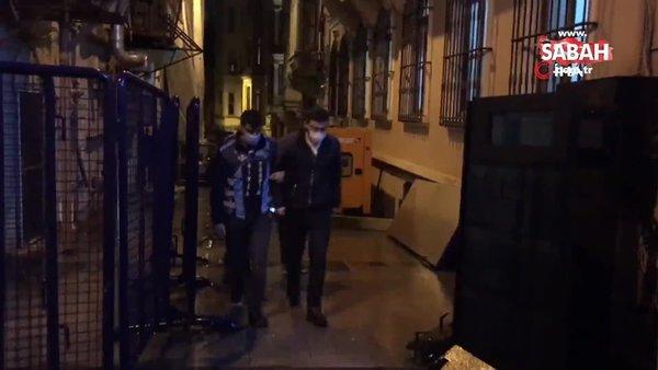 Beyoğlu'nda 'değnekçi' operasyonu: 2 gözaltı   Video