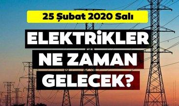 25 Şubat 2020 BEDAŞ İstanbul elektrik kesintisi olan ilçeler listesi!