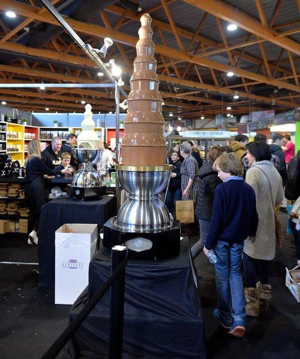 Brüksel çikolata fuarı, ziyaretçi akınına uğradı