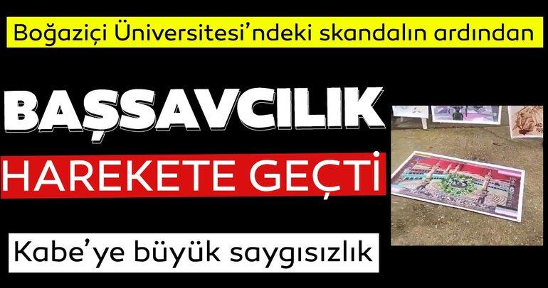 İstanbul Cumhuriyet Başsavcılığı , Boğaziçi Üniversitesi önünde Kabe fotoğrafının yere serilmesine soruşturma başlattı