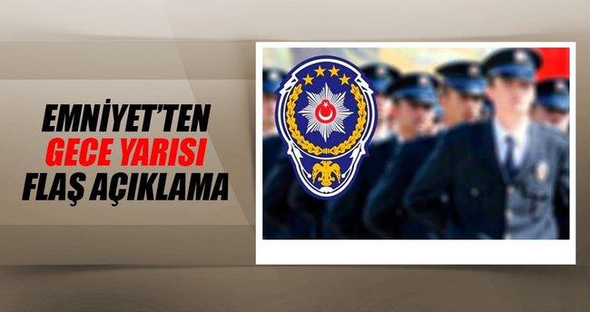 """Emniyet Genel Müdürlüğü'nden """"KHK"""" açıklaması"""