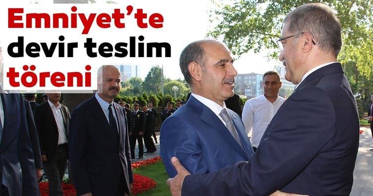 Emniyet Genel Müdürlüğünde devir teslim töreni! Celal Uzunkaya görevini Mehmet Aktaş'a devretti