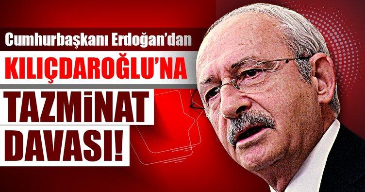 Son dakika: Cumhurbaşkanı Erdoğan'dan Kılıçdaroğlu'na manevi tazminat davası