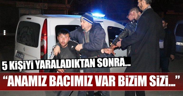 5 kişiyi yaralayan şüpheliler gazetecilere saldırmak istedi!