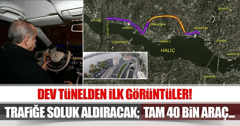 Kasımpaşa - Hasköy Tüneli hizmete açıldı!