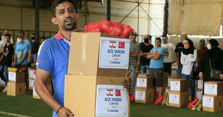 Lübnan'da 500 aileye gıda yardımı