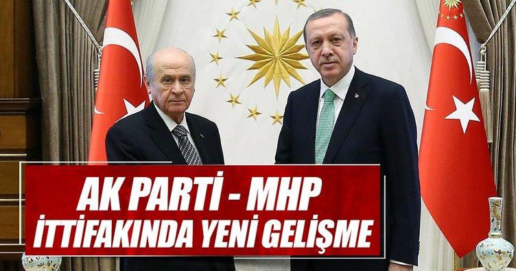 AK Parti MHP ittifakında yeni gelişme