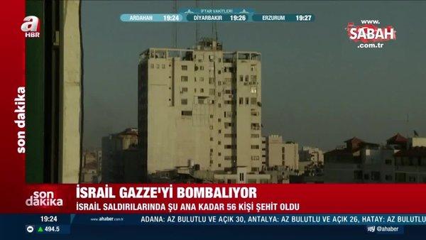 Son Dakika Haberi... İsrail, Gazze'yi bombalamaya devam ediyor! Binanın yıkılma anı kamerada | Video