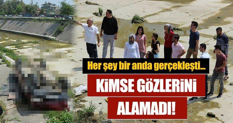 Adana'da otomobil yürüyüş yoluna düştü: 2 yaralı