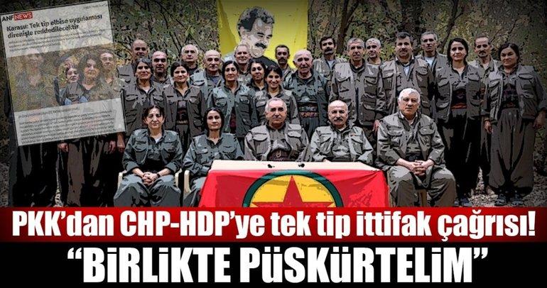 PKK'dan CHP'ye 'tek tip ittifak' çağrısı