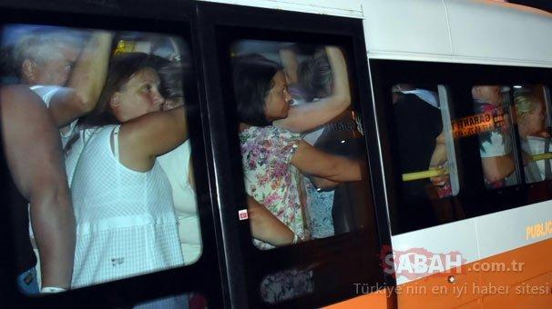 16 yolcu kapasiteli bir minibüsten 29 yolcu çıktı!