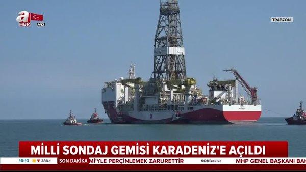 'Fatih' Karadeniz'deki sondaj faaliyetleri için Trabzon Limanı'ndan ayrıldı | Video