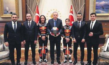 Başkan Erdoğan şampiyonları kabul etti