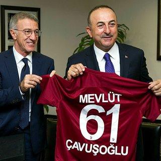 Trabzonspor Başkanı Ağaoğlu ndan Bakan Mevlüt Çavuşoğlu na ziyaret