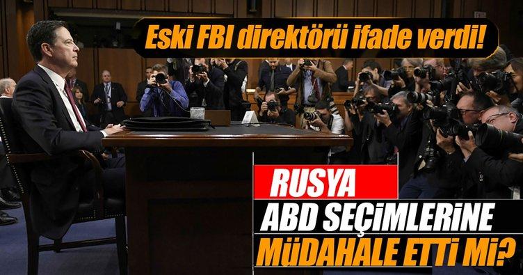 Eski FBI Başkanı Comey, Rusya soruşturmasıyla ilgili ifade verdi