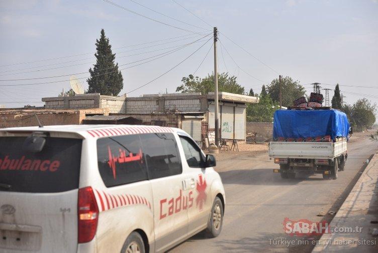 PKK/YPG'liler için geri sayım sürüyor. Teröristler Rasulayn'dan Kızılhaç ambulansları ve sivil araçlarla kaçıyor