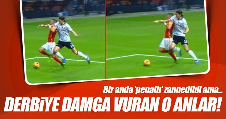 Derbiye damga vuran 'penaltı' pozisyonu!