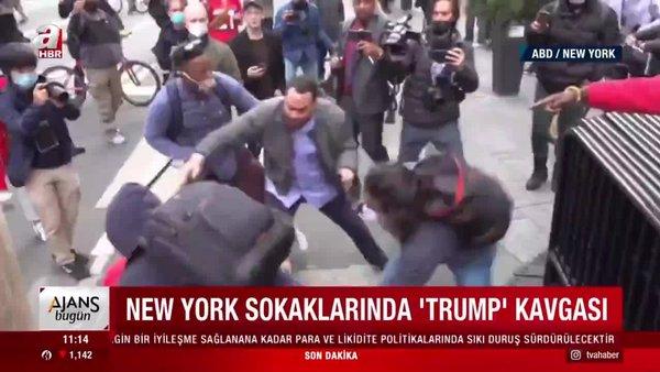 ABD New York sokaklarında Donald Trump kavgası | Video