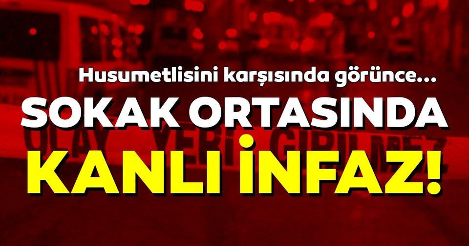 İzmir'de sokak ortasında kanlı infaz!