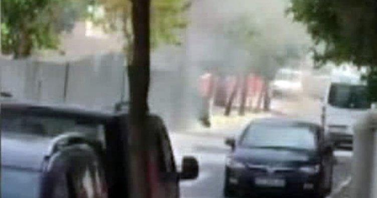 İstanbul'da metro istasyonunda patlama anı kamerada