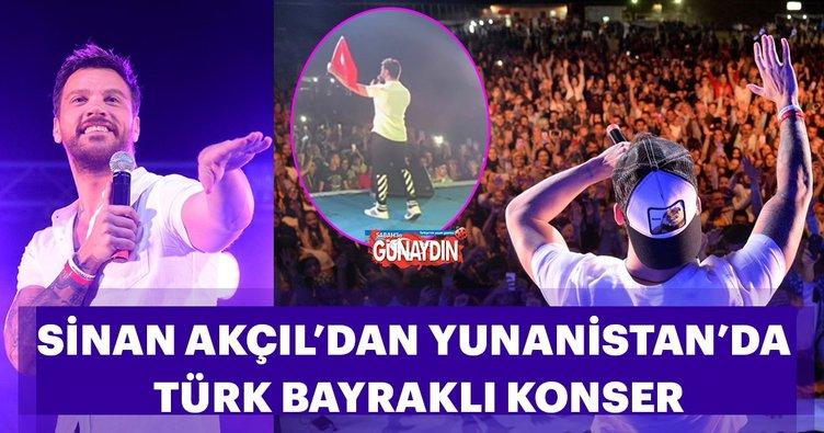 Sinan Akçıl'dan Yunanistan'da Türk bayraklı konser