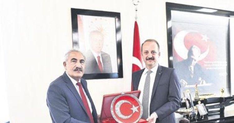Başkan Akgül mevkidaşını ağırladı