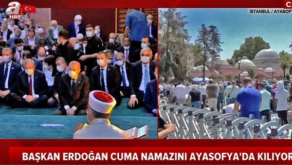 Son Dakika Haberi   Cumhurbaşkanı Erdoğan Cuma namazını Ayasofya Camii'de kıldı (7 Ağustos 2020 Cuma)    Video