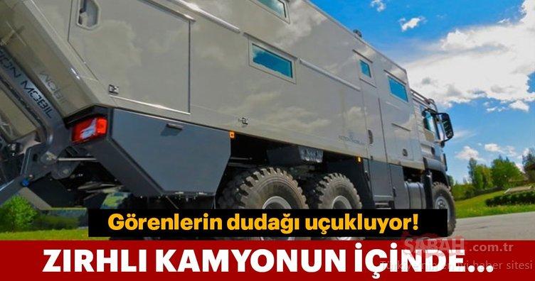 Zırhlı kamyondan lüks rezidans!