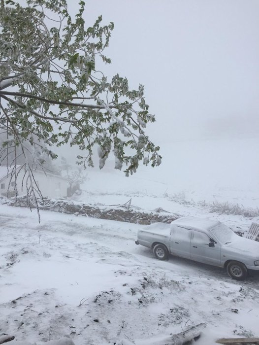 Antalya'ya yağan kar şaşkına çevirdi!