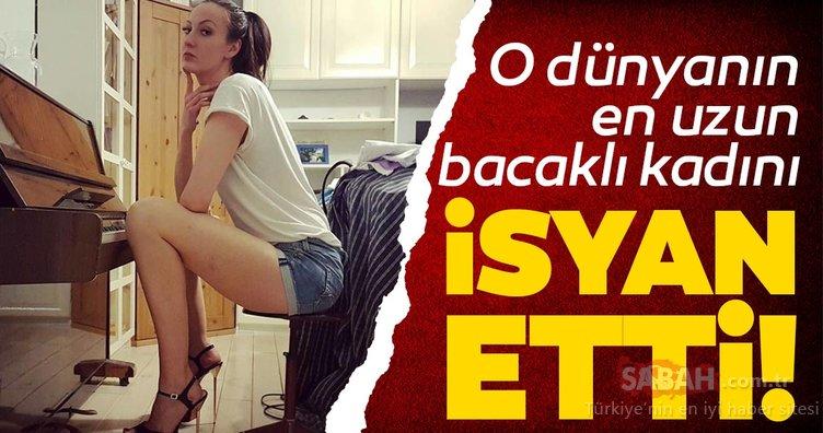Dünyanın en uzun bacaklı kadınından isyan! Ekaterina Lisina'nın boyu 2.05 metre
