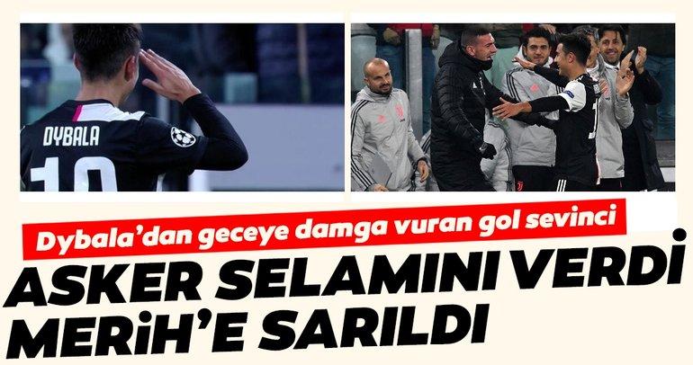 Paulo Dybala golünü asker selamıyla kutladı, Merih Demiral'a sarıldı! İşte o anlar
