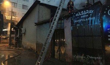 Başkent'te alev alan lokanta yanındaki büfeyi de tutuşturdu