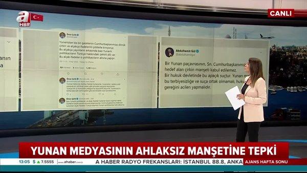 Son dakika haberi: Yunan medyasının ahlaksız manşetine tepkiler büyüyor   Video