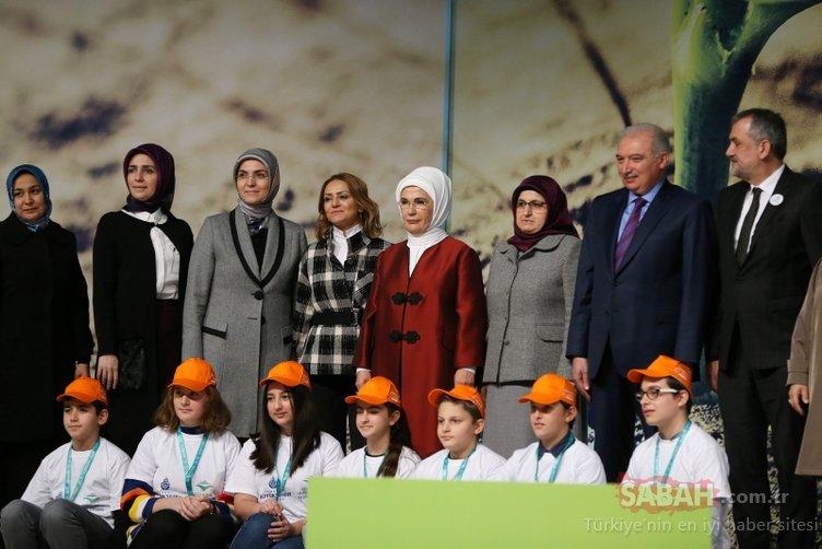 Emine Erdoğan, İstanbul Uluslararası Çevre Zirvesi'nde konuştu