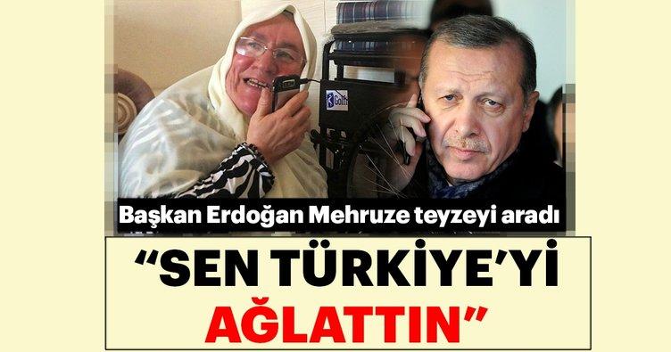 Cumhurbaşkanı Erdoğan,Mehruze teyzeyi aradı. Sen Türkiye'yi ağlattın