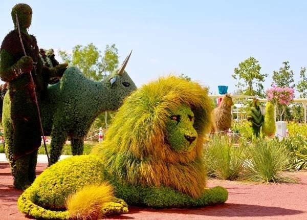 Bitki heykellere yoğun ilgi