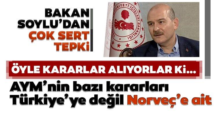 Son dakika: İçişleri Bakanı Süleyman Soylu'dan A Haber yayınında AYM'ye sert sözler: Yabancı savaşçıları bile gönderemiyoruz