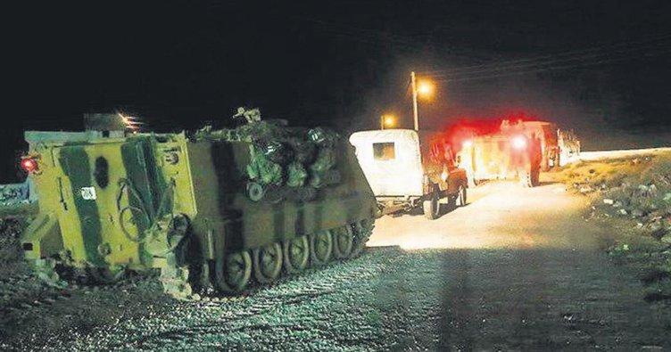 İdlib yolunda hareketli gece