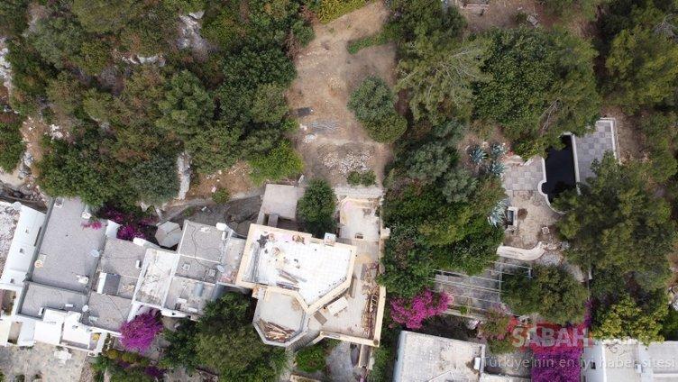 Firari Can Dündar'ın kaçak villasında yıkım devam ediyor!