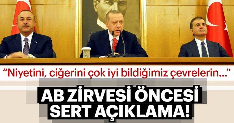 Erdoğan'dan AB zirvesi öncesi sert açıklama