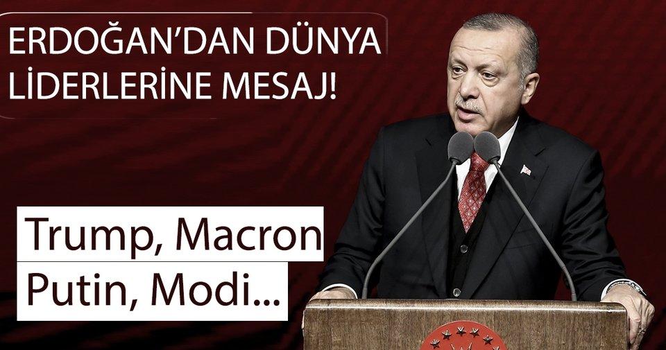 Başkan Erdoğan'dan Trump'a ve Dünya Liderlerine yeni yıl mesaj! ile ilgili görsel sonucu