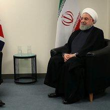 Ruhani May ve Macron'la görüştü