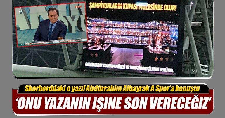 Galatasaray-Trabzonspor maçındaki skorbord yazısı olay oldu!
