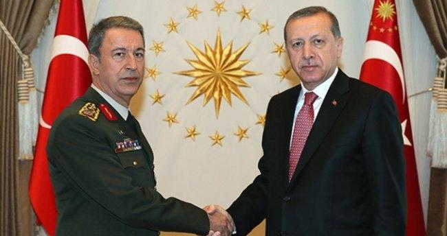 Erdoğan, Genelkurmay Başkanı Orgeneral Akar'ı kabul etti