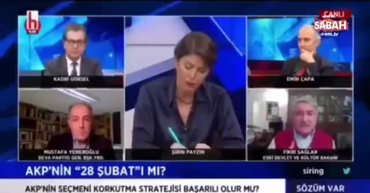 CHP'li Fikri Sağlar'dan Halk TV canlı yayınında skandal başörtüsü açıklaması | Video videosunu izle | Son Dakika Haberleri
