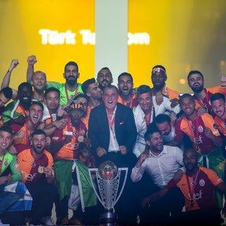 Galatasaray şampiyonluk kupasını kavuştu! İşte o anlar