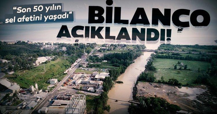Başkan Yardımcısı Fuat Oktay, Ordu'daki sel felaketinin bilançosunu açıkladı