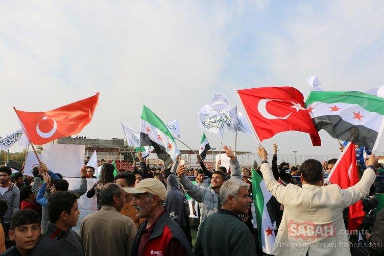 Suriyelilerden s��nırda PKK/YPG protestosu